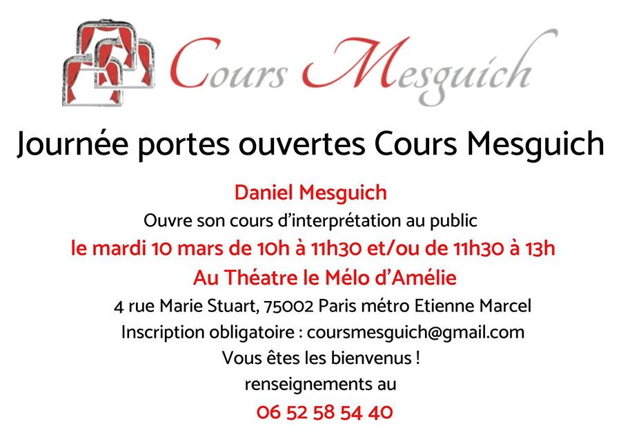Journées portes ouvertes Cours Mesguich